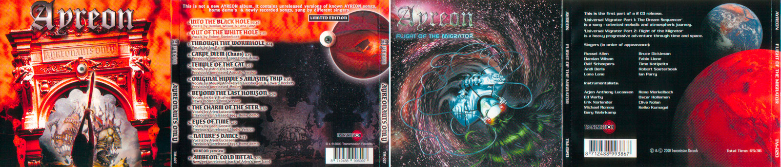Ayreon CD covers