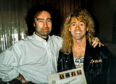 Ian Parry with Paul Rodgers in Amsterdam 1994